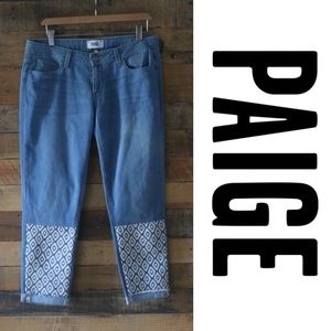 Paige Jimmy Jimmy Crop Boyfriend Jeans - sz 29